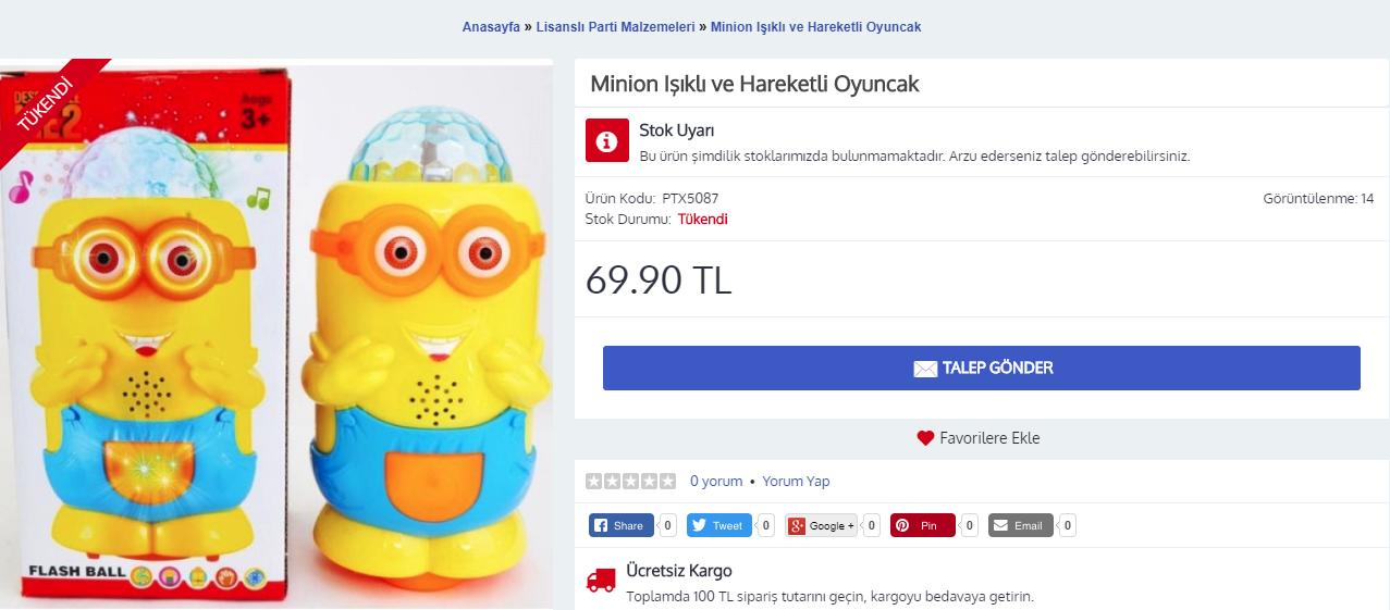 Opencart - Stokta Yok - Tükendi