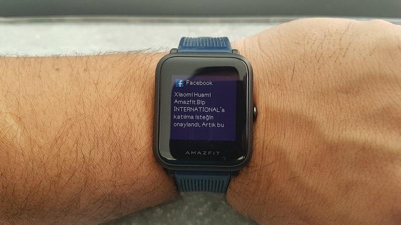 Amazfit Bip Mesaj Bildirim Ekranı